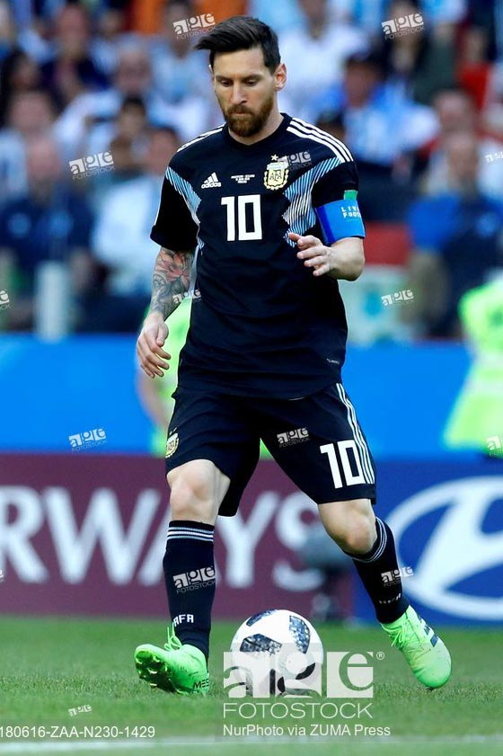 June 16, 2018 - Moscow, Russia - Group D Argetnina v Iceland - FIFA World Cup Russia 2018.Lionel Messi(Argentina) at Spartak Stadium in Moscow