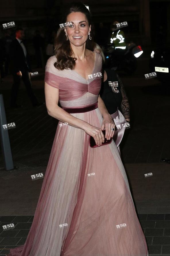 The Duchess Of Cambridge Attends 100 Women In Finance Gala Dinner in aid of Mentally Healthy Schools at the Victoria and Albert Museum on February 13, 2019 in London, England.
