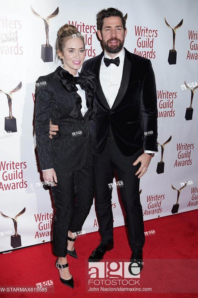 Emily Blunt and John Krasinski at the Writers Guild Awards in New York. February 17, 2019
