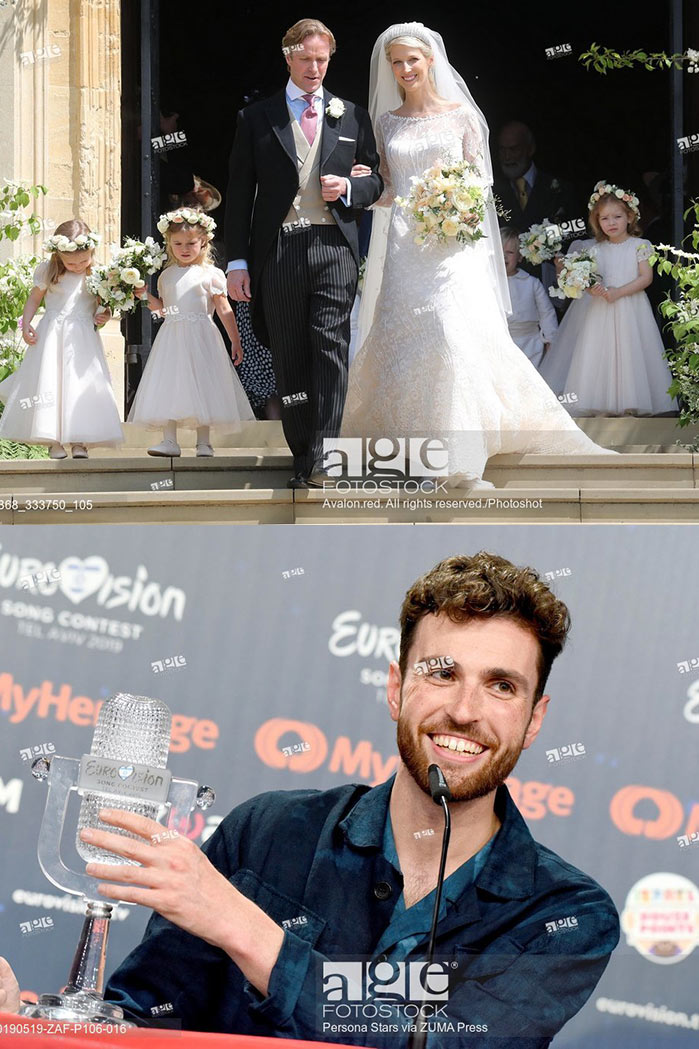 Lady Gabriella Windsor wedding at St George's Chapel. Duncan Laurence, winner of the Eurovision Song Contest 2019