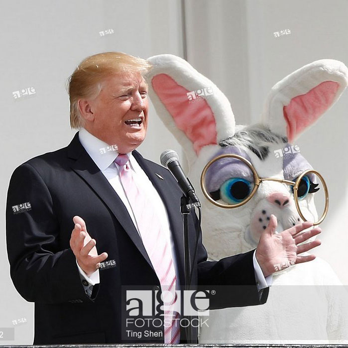 U.S. President Donald Trump attends the annual Easter Egg Roll at the White House in Washington D.C., the United States, on April 22, 2019.