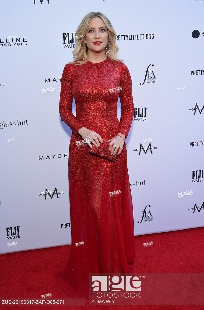 Kate Hudson arrives for the The Daily Front Row 5th Annual Fashion LA Awards. March 17, 2019 - Beverly Hills, California, U.S.