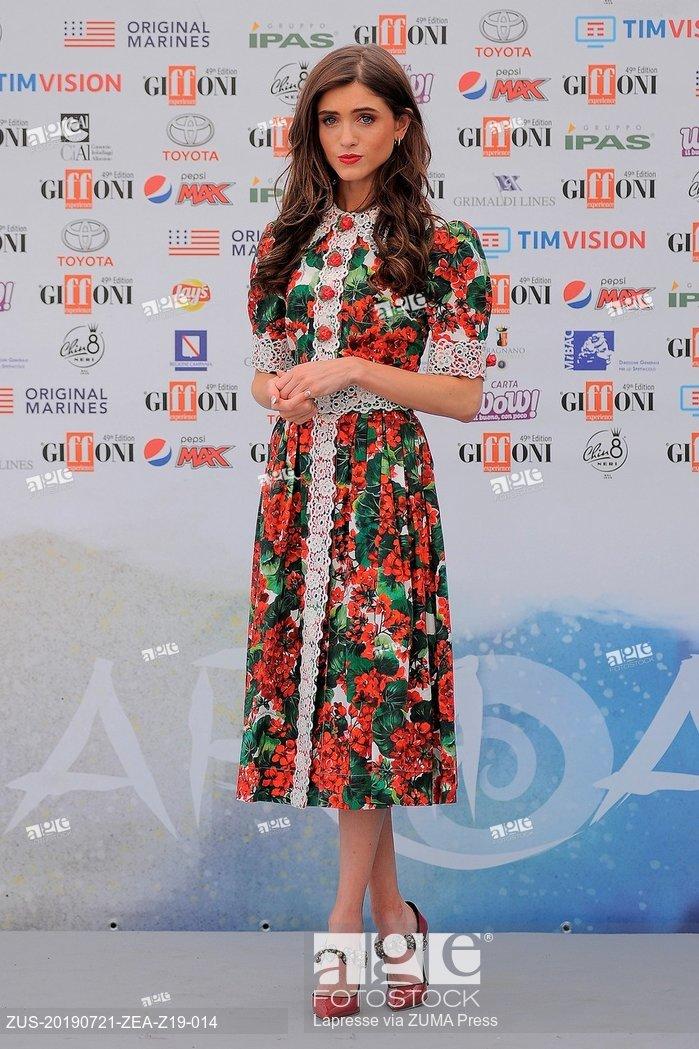 Natalia Dyer attends the Giffoni Film Festival in Giffoni Valle Piana, Salerno, Italia
