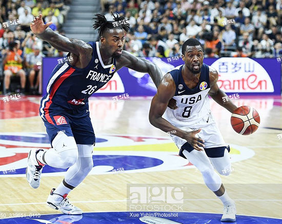 Quarter-final match between the United States and France at the 2019 FIBA World Cup