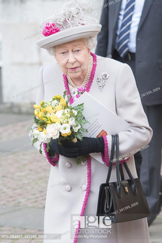 Queen Elizabeth II during the 750th Anniversary of Westminster Abbey, London