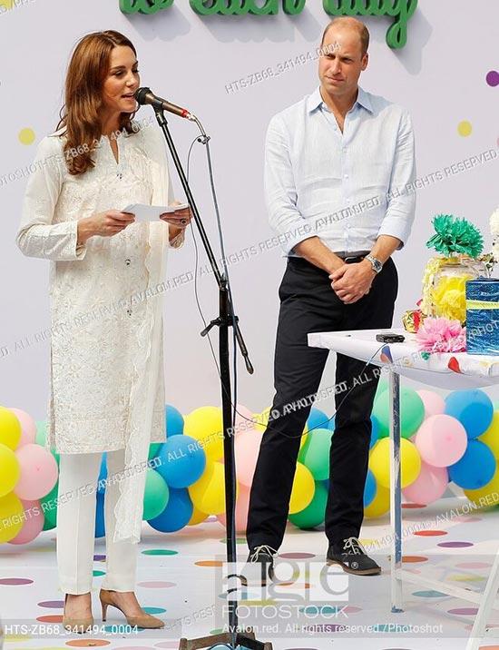 Britain's Prince William and Catherine, Duchess of Cambridge, visit SOS Children's village in Lahore, Pakistan