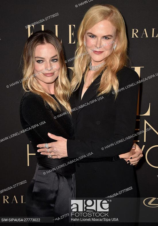 Margot Robbie and Nicole Kidman attend ELLE Women In Hollywood in Beverly Hills, California