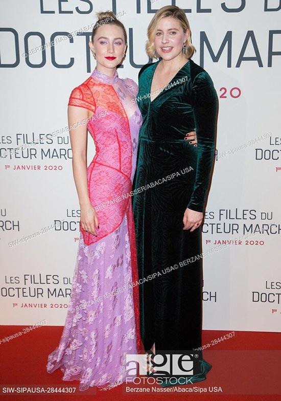 Saoirse Ronan and Director Greta Gerwig attend the Little Women, Les Filles du Docteur March Premiere in Paris