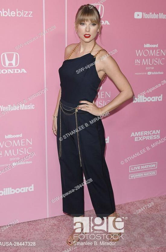 Taylor Swift at the 2019 Billboard Women in Music in Los Angeles