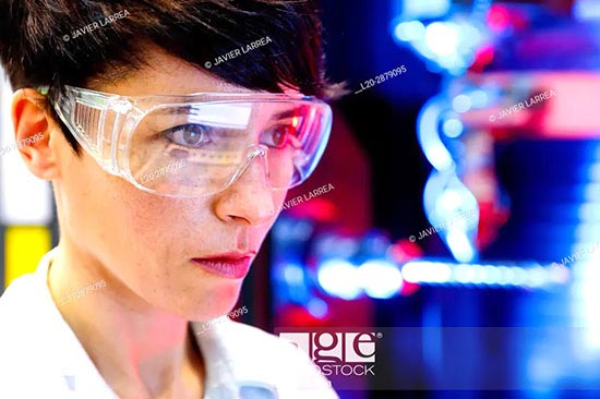Stock photos of science. Images portraying the different fields of science: biology, chemistry, physics, astronomy, anatomy