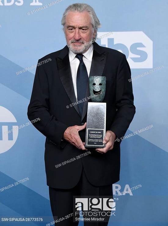 Robert De Niro recibe el premio a la trayectoria del Sindicato de Actores 2020, Premios Sag