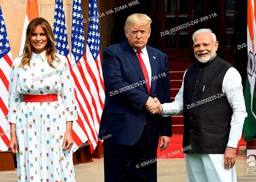 US President Donald Trump visit to India: Fist lady Melania Trump, Donald Trump, Indian Prime Minister Narendra Modi
