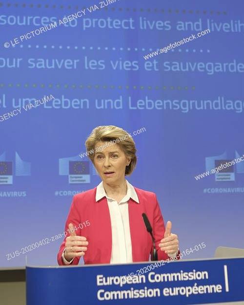 Rueda de prensa de la Presidenta de la Comisión Europea, Ursula von der Leyen, sobre el SURE, programa de desempleo parcial de la UE
