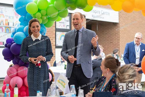 The Duke and Duchess of Cambridge during their visit to Queen Elizabeth Hospital in Kings Lynn as part of the NHS birthday celebrations