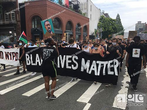 Black Lives Matter Protests continue in New York City during the Coronavirus Pandemic