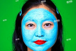 Chinese woman with facial mask