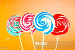 Colorful lollipop against the background