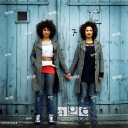 Stock photo of two women