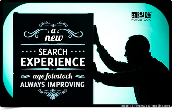 A new search experience. age fotostock always improving