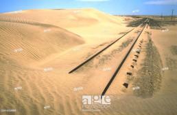 Railway abandoned between Luderitz and Kolmanskop. Namib Desert. Namibia