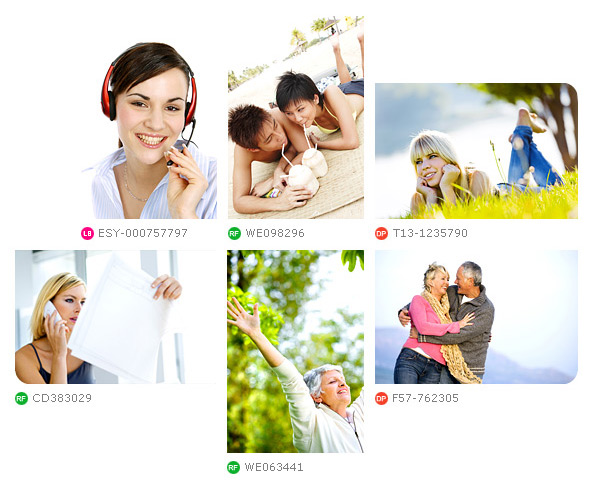 age fotostock images of happy seniors, connected teens, good customer service.