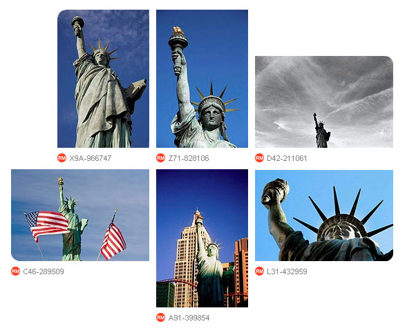 Replicas Statue of Liberty by age fotostock photographers
