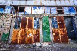 Abandoned Jupiter Factory in Pripyat ghost town of Chernobyl Nuclear Power Plant Zone of Alienation in Ukraine.