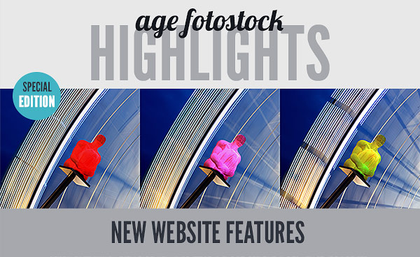 age fotostock HIGHLIGHTS - SPECIAL EDITION - NEW WEBSITE FEATURES