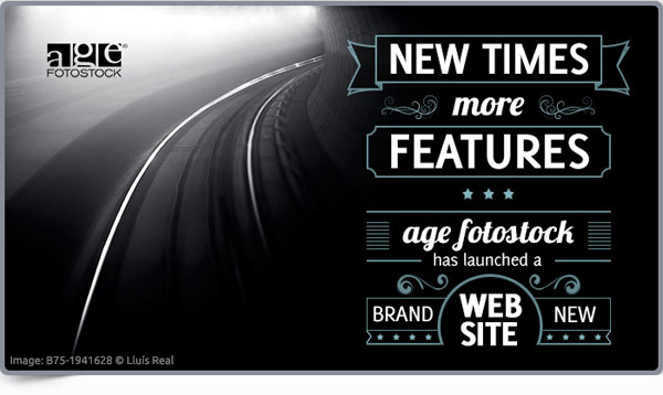 New times, more features. age fotostock has launched a brand new Website