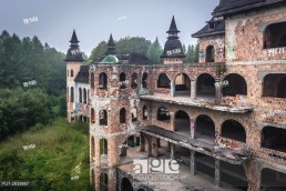 Unfinished castle - unofficial tourist attraction in Lapalice village, Kashubia region in Poland. Building of castle began in 1979.