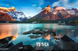Torres del Paine National Park is a national park encompassing mountains, glaciers, lakes, and rivers in southern Chilean Patagonia.