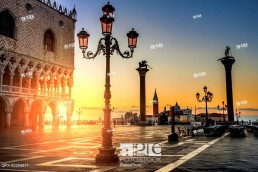 Sunset over San Marco Square, Venice, Italy