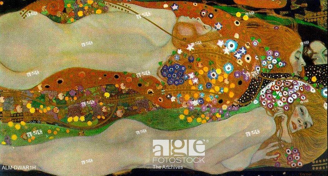 Gustav Klimt Water Serpents II