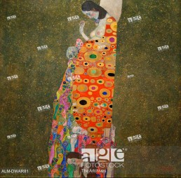 Hope, II. Klimt, Gustav (1862-1918). Oil on canvas, gold, collage. Art Nouveau. 1907-1908