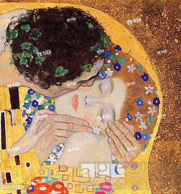 The Kiss, 1907-08 (oil on canvas) (detail of 601), Klimt, Gustav (1862-1918)