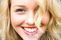 close-up of a beautiful girl laughing