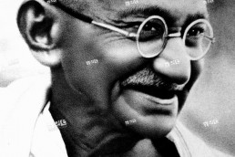 MOHANDAS GANDHI (1869-1948).Hindu nationalist and spiritual leader.