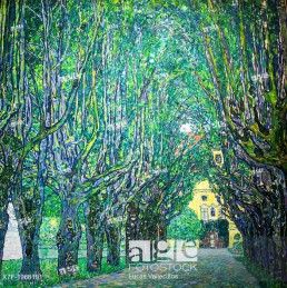 Avenue in front of Kammer Castle, Gustav Klimt