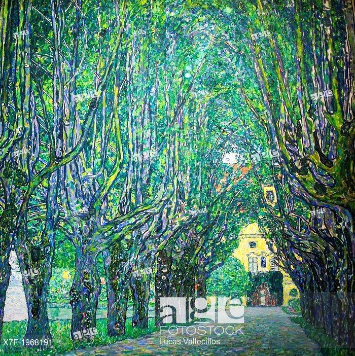 Avenue in front of Kammer Castle, Gustav Klimt