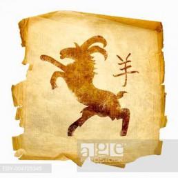 Goat Zodiac icon, isolated on white background.