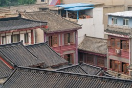 Residential homes in the Muslim Quarter of Xi'an, China