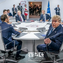World leaders at G7 summit in Biarritz, France